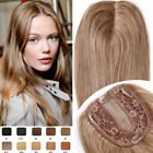 Damen Echthaar Topper Toupee Clip In Toupet Real Human Hair Extensions Haarteile