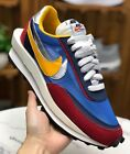 Sacai x Nike LVD Waffle Daybreak Joint Section Mens Blue