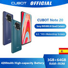 6,5'' CUBOT NOTE 20 NFC 4G Smartphone Android 10 4200mAh 3GB+64GB Teléfono...