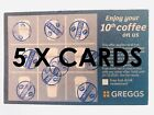GREGGS TRAVEL MUG loyality Cards Vouchers hot cold Drink COFFEE TEA GIFT COUPON