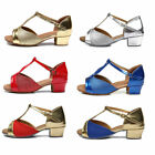 Latin dance shoes for children six-color professional jazz tango shoes for kids