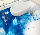 3D Blue Abstract 2589 Floor WallPaper Murals Wall Print Decal UK Zoe