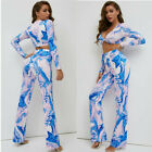 Autumn New Printing Dyeing Long Sleeve Coat  Pants Suit Two-Piece Suit