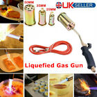 Propane Butane Gas Torch Burner Blow Plumbers Roofers Roofing Brazing Set +3Tips