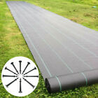 Heavy Duty Weed Control Fabric Membrane Sheet Landscape Ground Cover W/ 50 Pegs