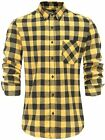KateSui Men Slim Fit Flannel Long Sleeve Fashion Plaid Dress Shirts