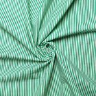 Vintage 100% cotton fabric - Stripe design - Off-white and green -...
