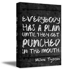 Mike Tyson Wall Art Home Workplace Décor Everyone Has a Plan Quote Canvas