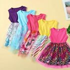 Toddler Kids Baby Girls Sleeveless Patchwork Mermaid Tulle Party Princess Dress
