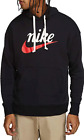 Nike Hoodie Mens NSW Sportswear Heritage Pullover French Terry Loose Fit Black