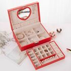 Jewelry Box Classical European Style Leather Necklace Storage Case Lock LuxuryJewelry Boxes - 3820