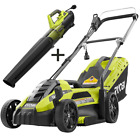 Electric Walk Behind Push Mower 11 Amp and 8 Amp Electric Jet Fan Blower Corded