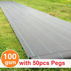 1,2,3,4m Wide Heavy Duty Weed Control Fabric Membrane Landscape Ground Cover UK