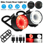 Waterproof Bike Bicycle MTB USB Rechargeable LED Head Front Light/Rear Tail Lamp