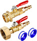 Brass Winterize Adapter with 2 Pcs 1/4 Inch Male Quick Connecting Plug & 3/4 Inc