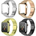 Metal iWatch Strap Band Case For Apple Watch Series 6 5 4 3 2 1 SE 38 40 42 44mm
