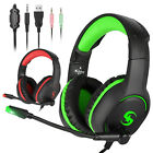 Gaming Headset Adjustable Mic LED Stereo Surround Headphone for PS4/PC/Xbox ONE