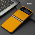 For Samsung Galaxy Z Flip 3 Case Ultra Thin Leather Hybrid PC Shockproof Cover