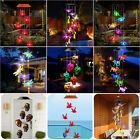 Solar Color-Changing LED Wind Chime Garden Yard Hanging Light Decor Walkway Lamp