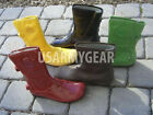 Vintage Palladium Shibuya Unique Patent Leather Fashion Designer Rain Boots 2004