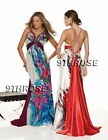 SPARK THE PARTY! BEADED FLORAL PRINTS FORMAL/PROM/EVENING DRESS WITH TRAIN