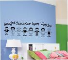 Imagine Discover Children Vinyl Wall Lettering Words