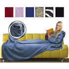 CUDDLE FLEECE SNUG BLANKET SLEEVES SNUGGLE RUG WRAP BAG
