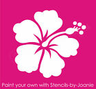 Hibiscus STENCIL Aloha Flower B Hawaii Tropical Garden Floral Beach Wall Art