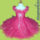 USMD06 Hot Pink Baby Clothing Wedding Flower Girls Dress 1,2,3,4,5,6,7,8,9 Yrs