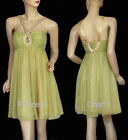 Yellow Cocktail Evening Dress SZ 8 10 12 14 16 18 20