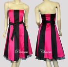 Black Hot Pink Cocktail Dress 8 10 12 14 16 18 20 22 24