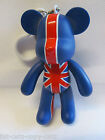 LARGE JOINTED MOVING UNION JACK ENGLAND BEAR KEYRING UK