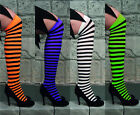 HALLOWEEN STRIPED KNEE HIGH WITCH STOCKINGS TIGHTS 4ASS