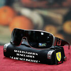 NEW MMA MENS SHIELD SUNGLASSES FULL RIM GUN METAL BLACK