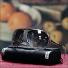 NEW MENS 80'S METAL AVIATOR SUNGLASSES VINTAGE FULL RIM SHADES BLACK BROWN LENS