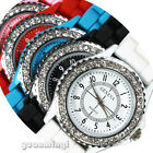 New Classic Gel Silicone Crystal Mens Womens Jelly Sport Quartz Watch Gifts 8801