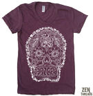 Women's DAY of the DEAD #2 screen printed t shirt American Apparel tee S M L XL