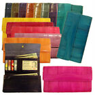 Genuine Eel Skin Leather Wallet Trifold Purse