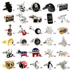Novelty Wedding Silver Cufflinks Cuff Links with Gift Box