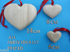 WOODEN HEARTS Rustic Style Small 6cm Medium 8cm & Large 14cm other choices too