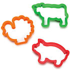 New Cute Cow Pig Piggy Turkey Sandwich Cookie Cutter Party Animal Kids Gift Idea