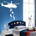 Apache Longbow Army Helicopter Marines SAS Kids Wall art Stickers Decal Vinyl