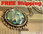 Fashion Huir peafowl circle necklace Pendant
