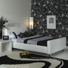 "Stylish Snow 3ft 6"" Large Single Faux Leather Bed Free Next Day Delivery"