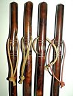 BROWN WOODEN WALKING STICK CANE UNUSUAL GREAT DESIGN CARVED WOOD WALKING STICKS