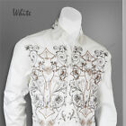 Men's Stylish Casual fashion Dress Shirt White  M L XL 2XL 3XL 4XL 307
