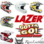 LAZER X7 ROAD LEGAL ACU GOLD APPROVED MOTORCYCLE MX MOTOCROSS ATV ENDURO HELMET