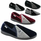 New Mens Dunlop Velour Twin Gusset Slippers Gents Shoes Sizes UK 7 8 9 10 11 12