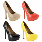 New Ladies Platform High Heel Classic Court Sandals Womens Size UK 3 4 5 6 7 8