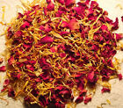 100g of Biodegradable Dried Flowers   Rose,Blue Malva and More   Weddings/Crafts
